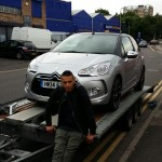 Tawfik taking delivery of our new Patrol Car!